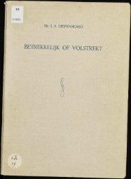 BETREKKELIIK OF VOLSTREKT - VU-DARE Home