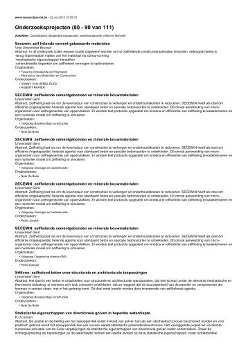 Onderzoeksprojecten (80 - 90 van 111)
