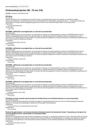 Onderzoeksprojecten (60 - 70 van 319)