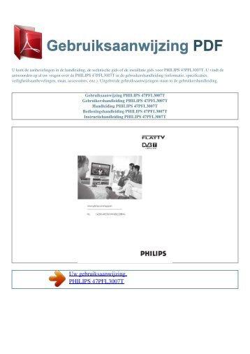 Gebruiksaanwijzing PHILIPS 47PFL3007T