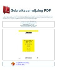 Gebruiksaanwijzing ZANUSSI IZ12 - GEBRUIKSAANWIJZING PDF