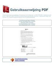 Gebruiksaanwijzing NEFF C57M70N0 - GEBRUIKSAANWIJZING PDF