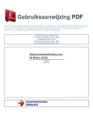 Gebruiksaanwijzing NOKIA 2630 - GEBRUIKSAANWIJZING PDF