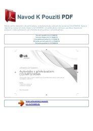 Návod k použití LG LCF600UR - NAVOD K POUZITI