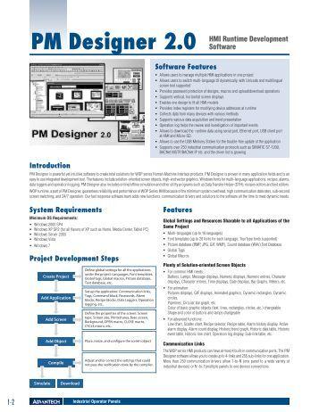 1-2 Software Features PM Designer 2.0 HMI Runtime ... - Vipa