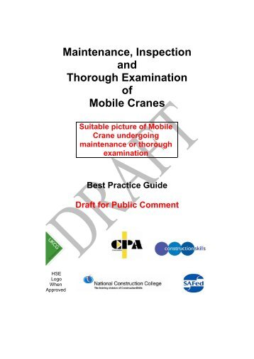 Maintenance, Inspection and Thorough Examination of Mobile Cranes