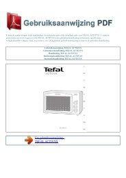 Gebruiksaanwijzing TEFAL ACTIVYS - GEBRUIKSAANWIJZING PDF