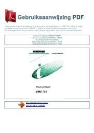 CMS80 - GEBRUIKSAANWIJZING PDF