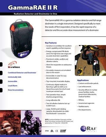 GammaRAE II R Datasheet - RAE Systems