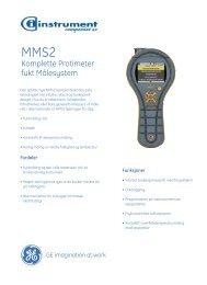MMS 2 Moisture Measurement System - GE Measurement & Control