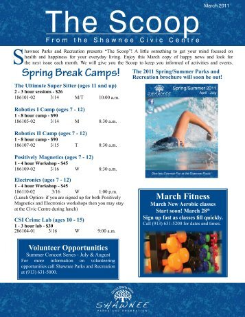 Spring Break Camps! - City of Shawnee