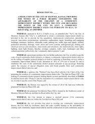 RESOLUTION NO. _____ A RESOLUTION OF ... - City of Shawnee