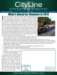 What's Ahead for Shawnee in 2013 - City of Shawnee