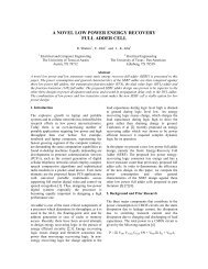 a novel low power energy recovery full adder cell - The University of ...