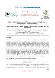 Effect of ethanolic extract of Hibiscus rosa sinensis - Scholars ...