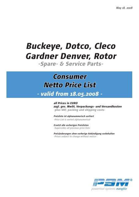 Gardner Denver Servo Control BLS-H