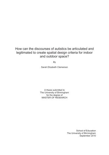 How can the discourses of autistics be articulated and legitimated to ...