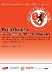 Richtlinien - Berliner Fußball-Verband e.V.