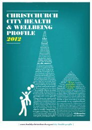 christchurch city health & wellbeing profile 2012 - Healthy Christchurch