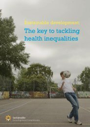 Sustainable Development: The Key to Tackling Health Inequalities