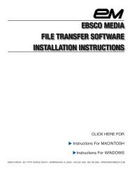 File Transfer - EBSCO Information Services