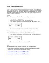 DGS- I 40 Software Upgrade - EBSCO Information Services