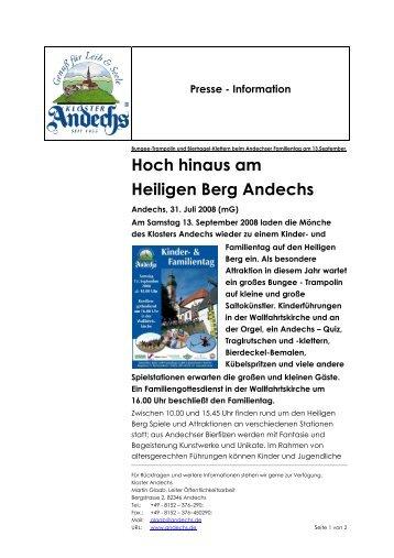 Hoch hinaus am Heiligen Berg Andechs - Kloster Andechs