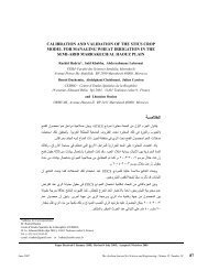 calibration and validation of the stics crop model - Arabian Journal ...