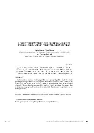 a fault-tolerant multicast routing algorithm based on cube algebra for ...