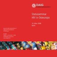 Statusseminar HIV in Osteuropa - Deutsche AIDS Gesellschaft eV