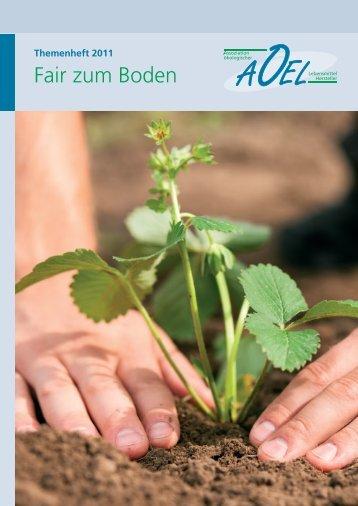 Themenheft 2011 - Assoziation ökologischer Lebensmittel Hersteller