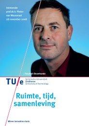 Ruimte, tijd, samenleven - Technische Universiteit Eindhoven