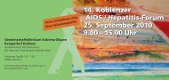 14. Koblenzer AIDS / Hepatitis-Forum 25. September 2010 9.00 - 15 ...