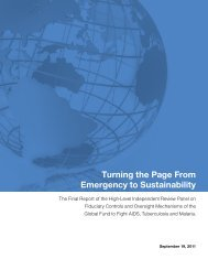 Turning the Page From Emergency to Sustainability