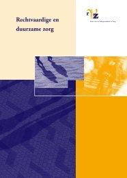 Rechtvaardige en duurzame zorg - Rvz