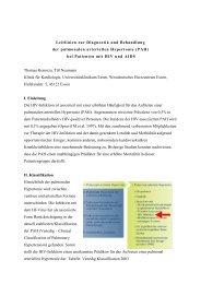 Entwurf Leitlinien zur pulmonal-arteriellen Hypertonie bei HIV-Infektion