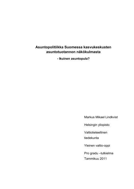 Markus Lindkvist - Helda