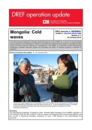Mongolia: Cold waves - International Federation of Red Cross and ...