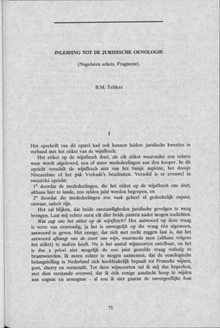 Inleiding tot de juridische oenologie - Groniek
