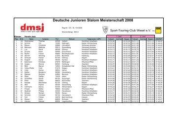 Deutsche Junioren Slalom Meisterschaft - ASC Breitenfelde