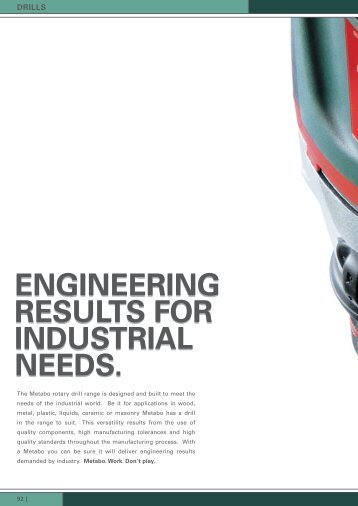 ENGINEERING RESULTS FOR INDUSTRIAL NEEDS.