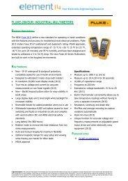 FLUKE-28II/EUR: INDUSTRIAL MULTIMETERS - Element14