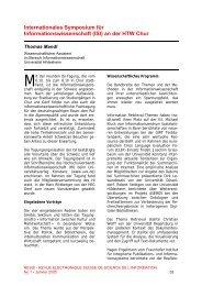 Internationales Symposium für Informationswissenschaft (ISI) an der ...