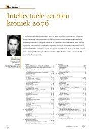 Intellectuele rechten kroniek 2006 - Universiteit Gent