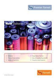 New Batteries Directive - Farnell