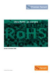 China RoHS – an overview - Farnell