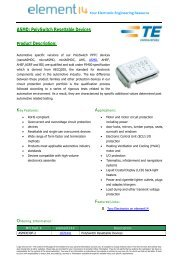 ASMD: PolySwitch Resettable Devices Product Description: - Farnell