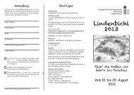 Lindenbichl 2013 - Evangelische Kirchengemeinde Herrsching ...