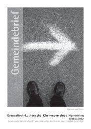 Gemeindebrief September bis November 2012 - Evangelische ...