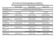 2013 Termine für Konfis Stand 2012 07 - Evangelische ...